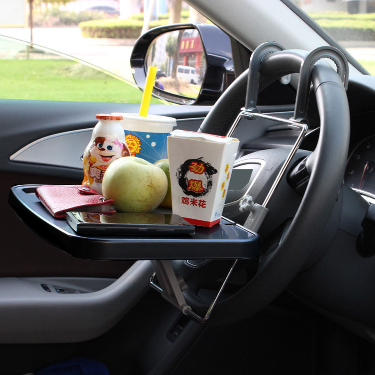 Auto Laptop Tray Table Stand Steering Wheel Mount Car SUV Truck Desk Holder