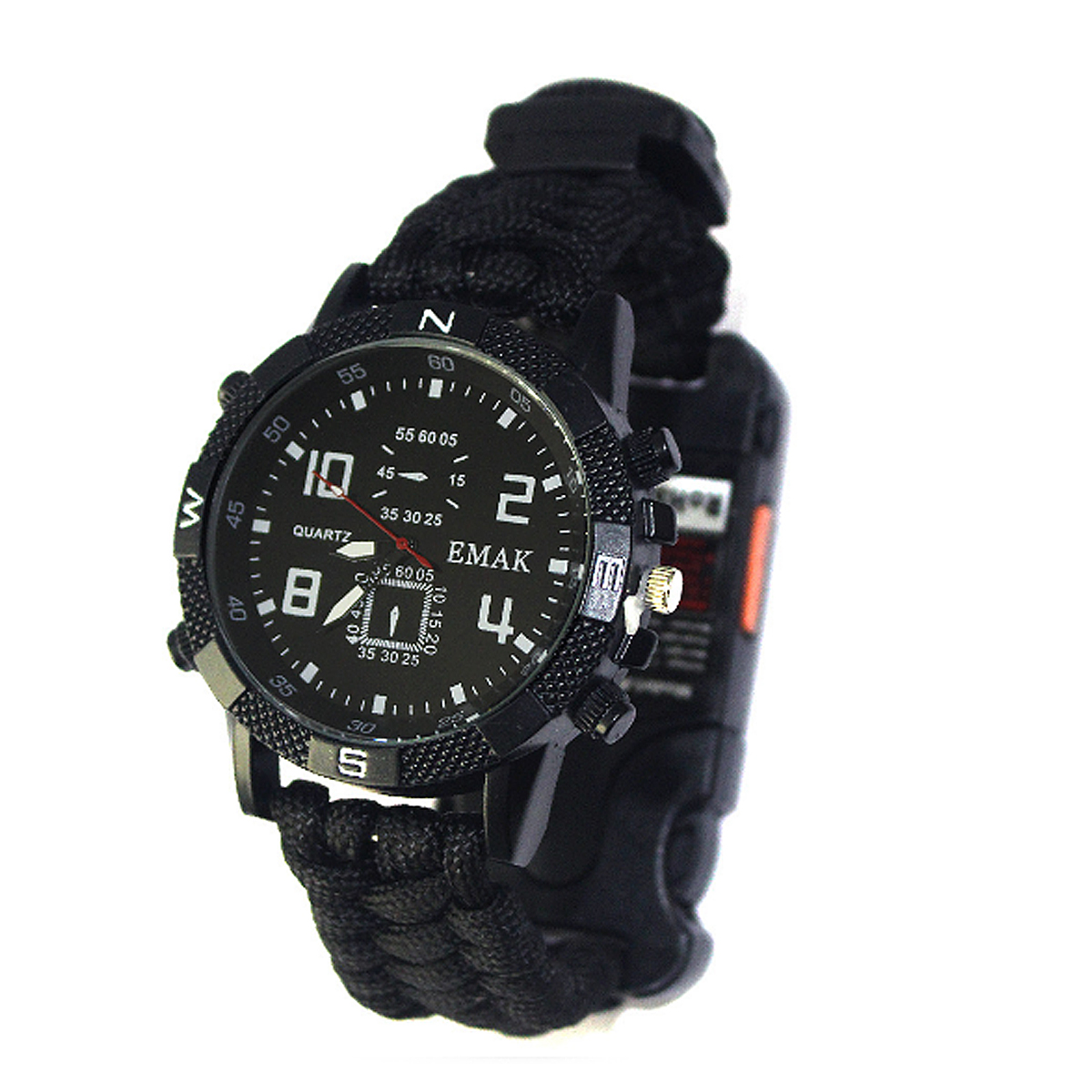 8 in 1 EDC Survival Paracord Bracelet Watch Outdoor Travel Emergency Wristband Flashlight Multifunctional Tool Kits