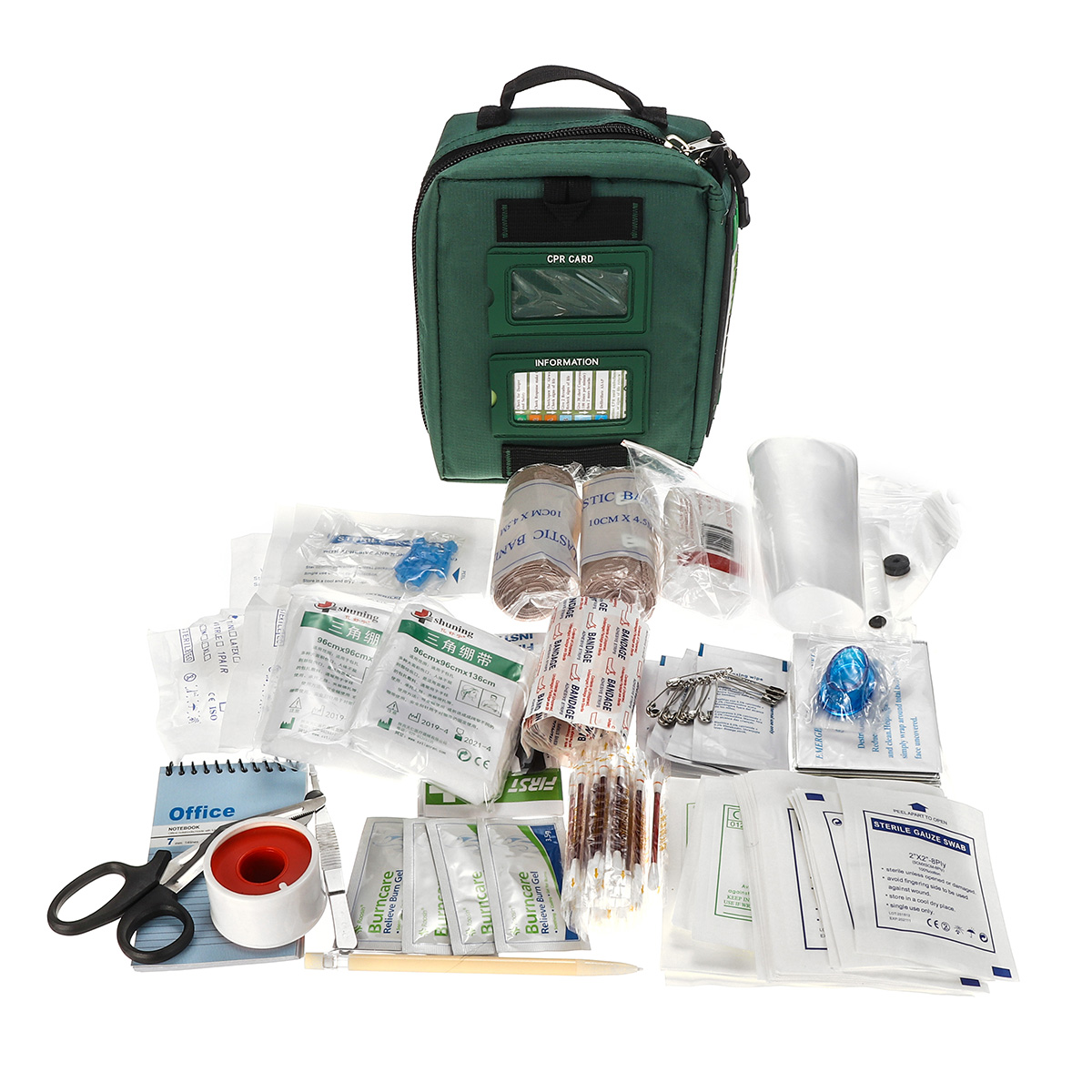 148 Pieces Premium Survival First Aid Kit Emergency Medical Bag Compact Home Outdoor Hunting Equipment
