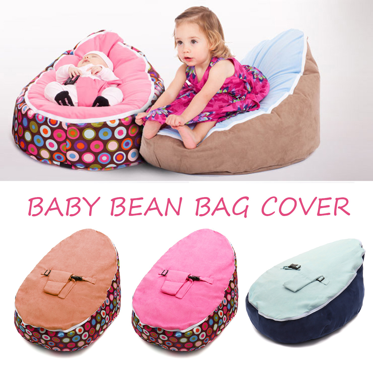Terrific Canvas Blue Vine Baby Infant Bean Bag Snuggle Bed C Without Filling Lazy Sofa Uwap Interior Chair Design Uwaporg