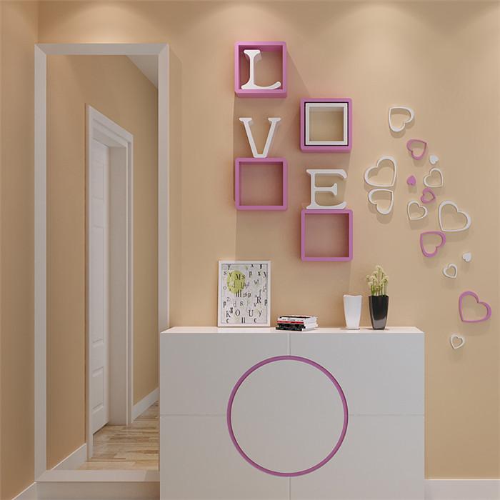 5pcs 10 цветов сделай сам стенная акриловая краска переводной картинки этикеток в форме сердца домашняя стенная дверная обстановка спальни&nb