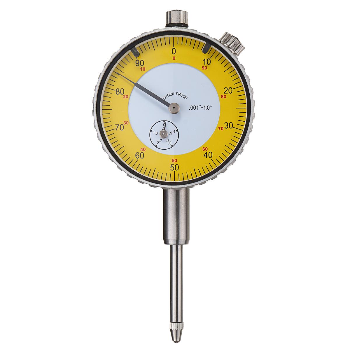 """Циферблат индикатора Индикатор рычага Шкала Точность измерения 0,001 """"-1,0"""" 115x55x24 мм"""