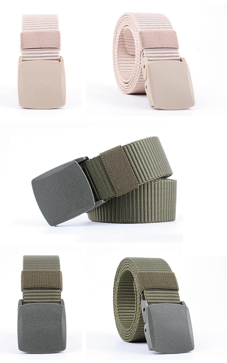 130cm Men Women Nylon Canvas Adjustable Quick Release Tactical Belt No  Metal Military 3 8cm Width Anti Allergy Waistband