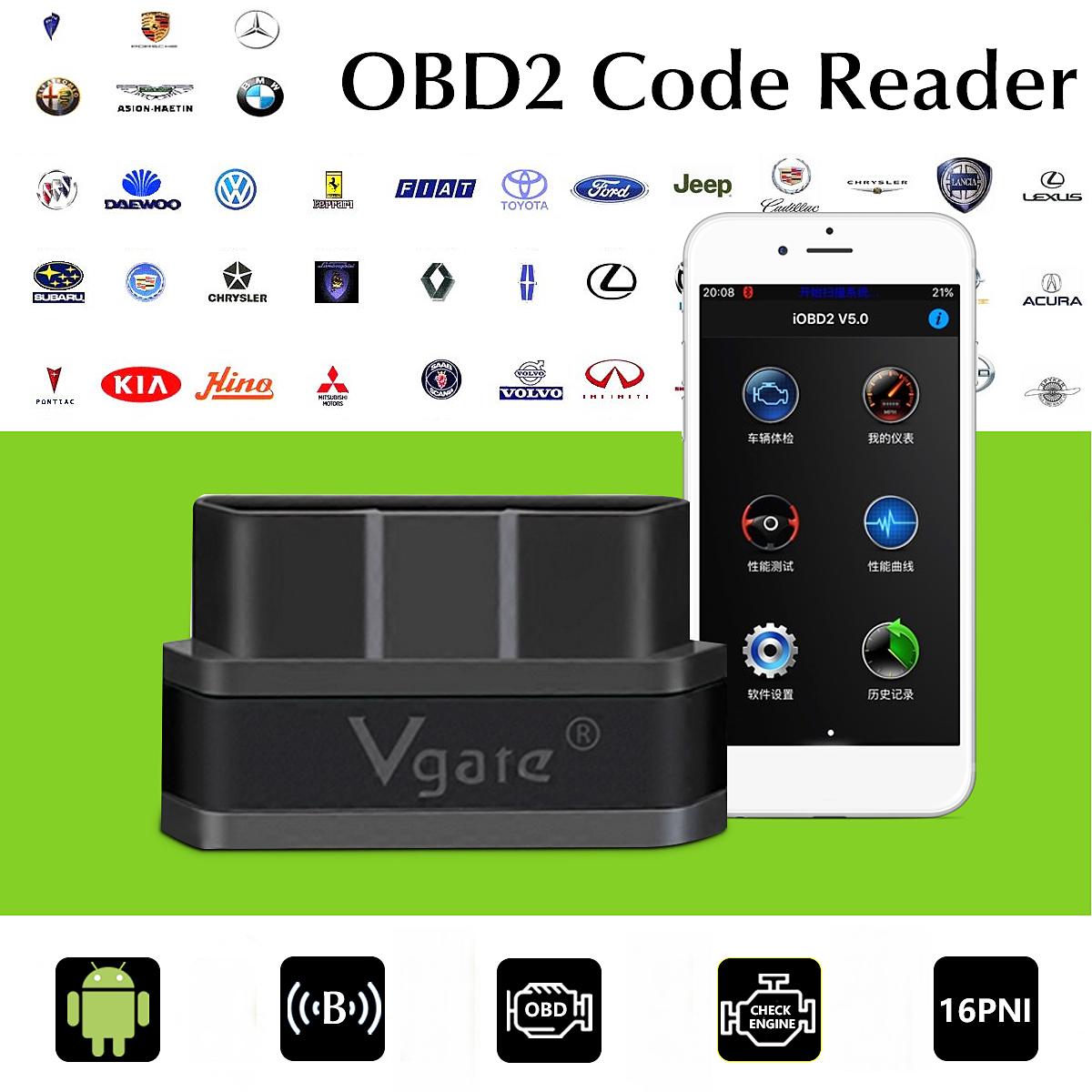 Vgate iCar 2 ELM327 bluetooth OBD2 Car Code Reader Scanner for iPhone  Android