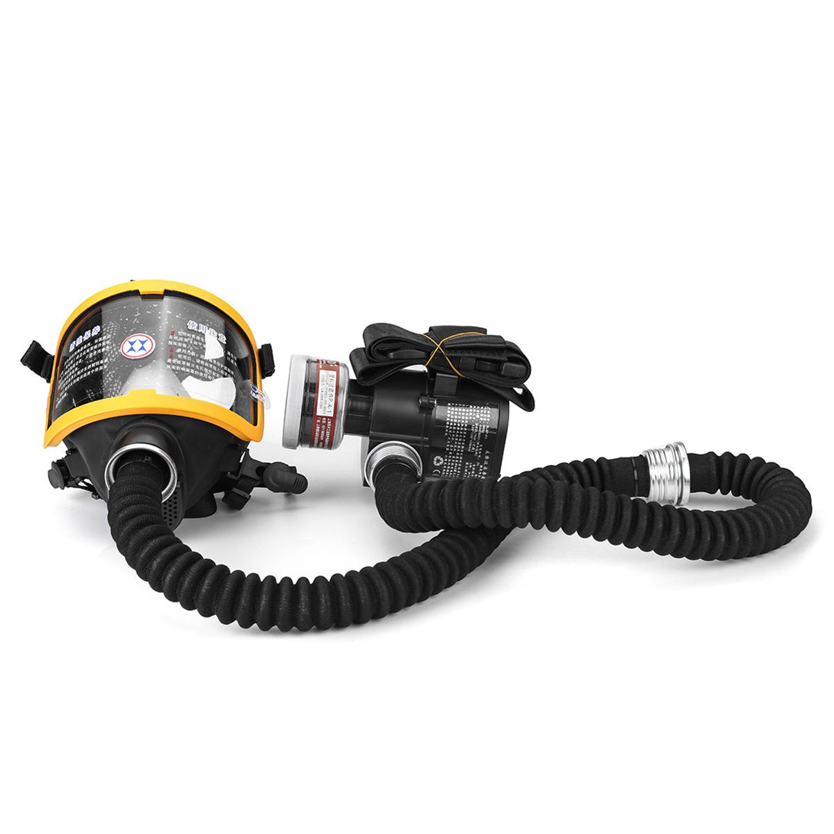 Купить со скидкой Electric Constant Flow Supplied Air Fed Full Face Gas Mask Respirator System