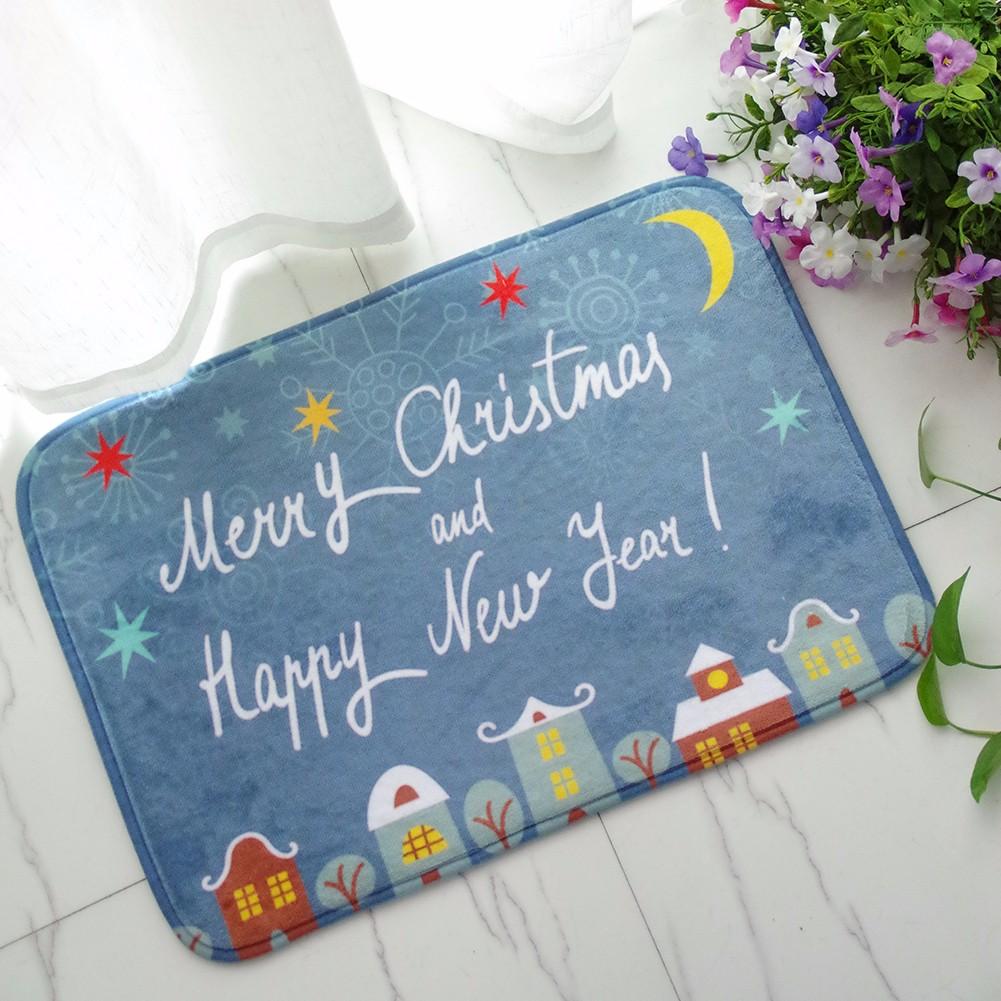 40x60см рождества фланель пены бархата памяти ковер впитывающий коврик для ванной нескользящей мягкий пол ковровое покрытие