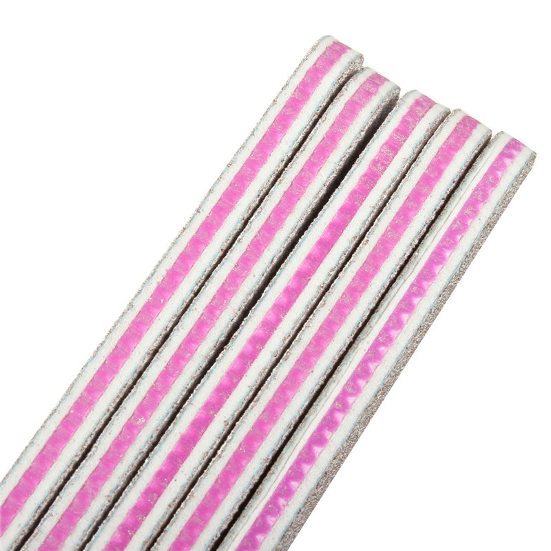 1Pc Sanding Nail Art File Double Side Buffers Curved Tool 100/180