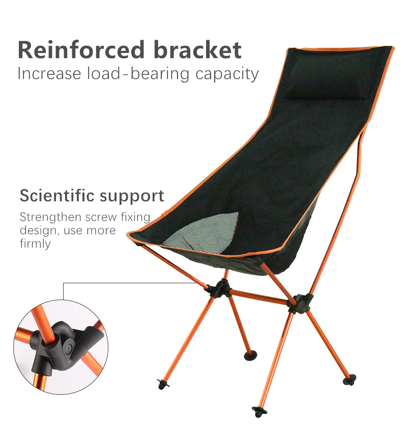 Portable Collapsible Moon Chair Fishing Camping BBQ Stool Folding Extended Hiking Seat Garden Ultralight Portable Indoor Outdoor Chair 3