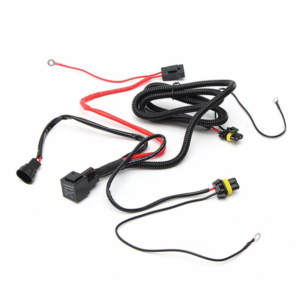 Wiring Harness Relay Kit For 9005 9006 H3 HB4 H10 9140 9145 Xenon HID on