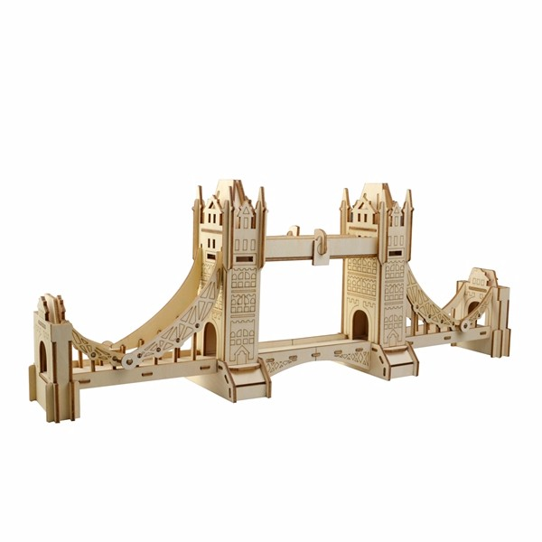 3D Jigsaw Лондонский Тауэрский мост Woodcraft Assembly Handicraft Home Decor DIY Модель Puzzle IQ Challenger