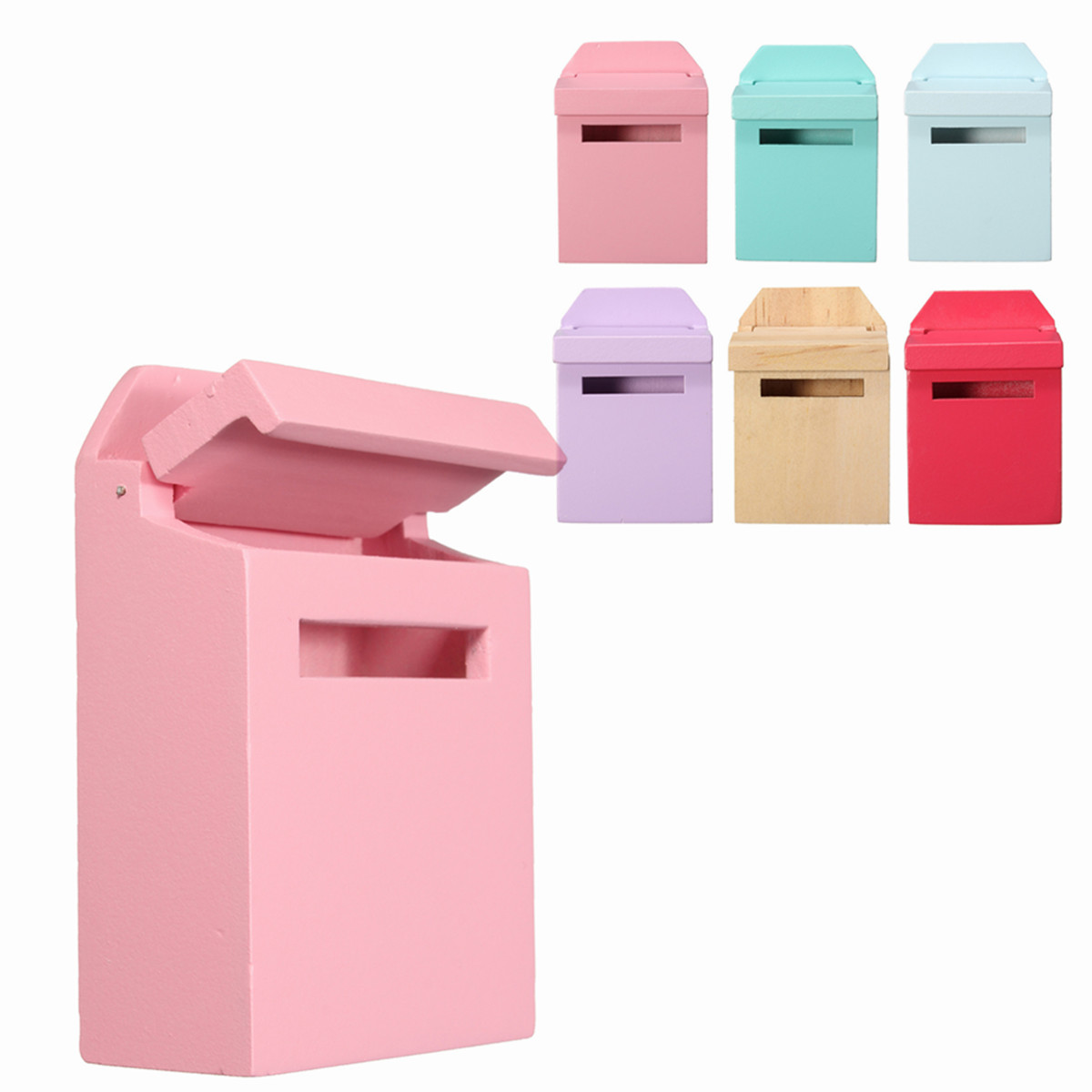 1/12 Scale Colorful Mail Box DIY Dollhouse Miniature Furniture Accessories For Dollhouse