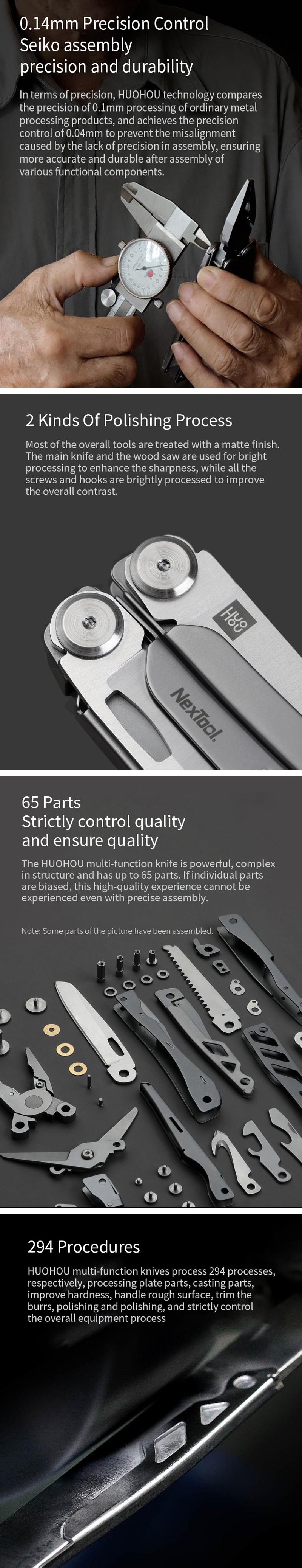 HUOHOU Multi-function Cutter 15 Functions Folding Bottle Opener Screwdriver / Pliers / Scissor / Wood Saw Tools Kit from xiaomi youpin 19
