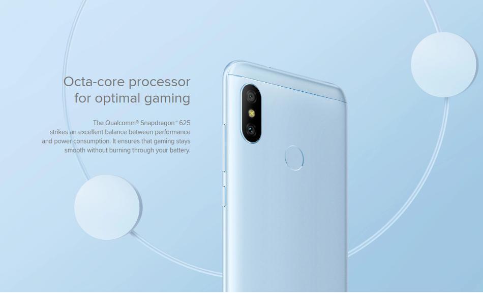 Xiaomi Mi A2 Lite Global Version 5 84 inch 4GB RAM 32GB ROM Snapdragon 625  Octa core 4G Smartphone