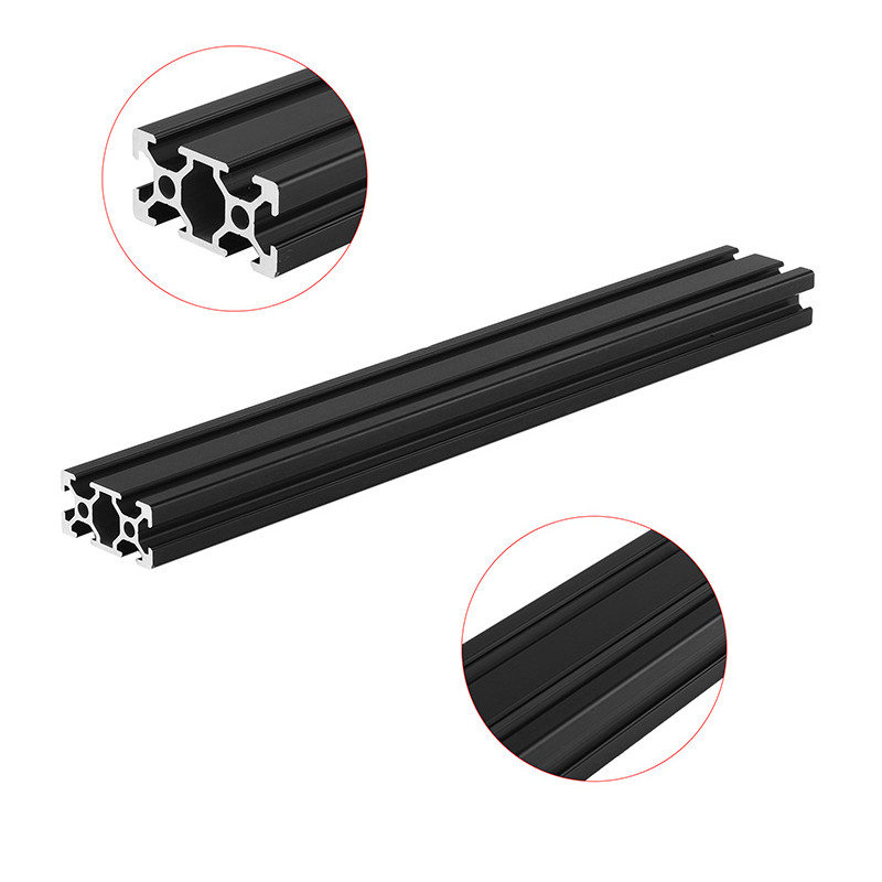 Machifit 300mm Length Black Anodized 2040 T-Slot Aluminum Profiles Extrusion Frame For CNC
