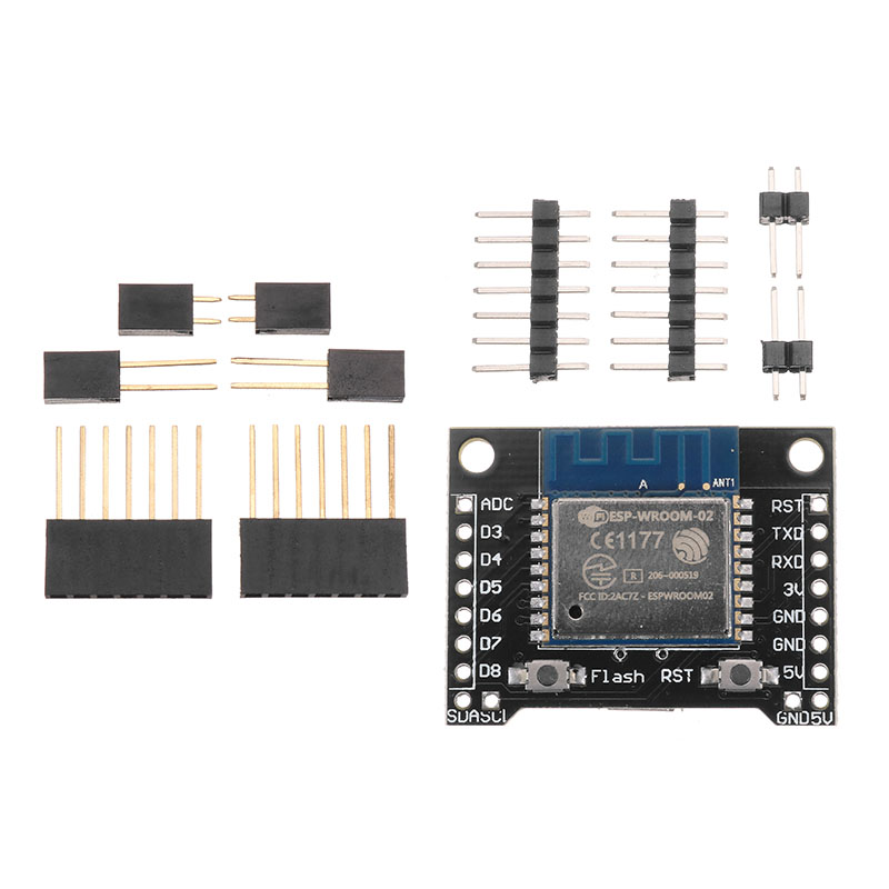 X-8266 ESP-WROOM-02 Development Board D1 Mini Nodemcu WiFi Internet Of Things ESP8266 Module Geekcreit for Arduino - products that work with official Arduino boards