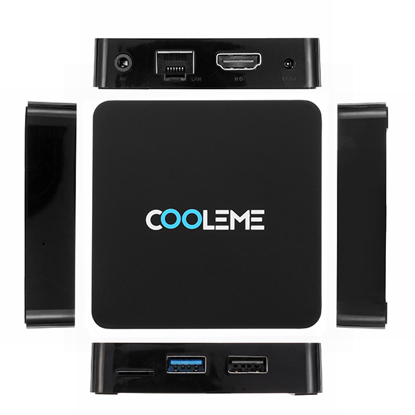 COOLEME CM-MH1 RK3328 4GB RAM 16GB ROM 5 0G WIFI 1000M LAN bluetooth 4 0  Android 7 1 TV Box