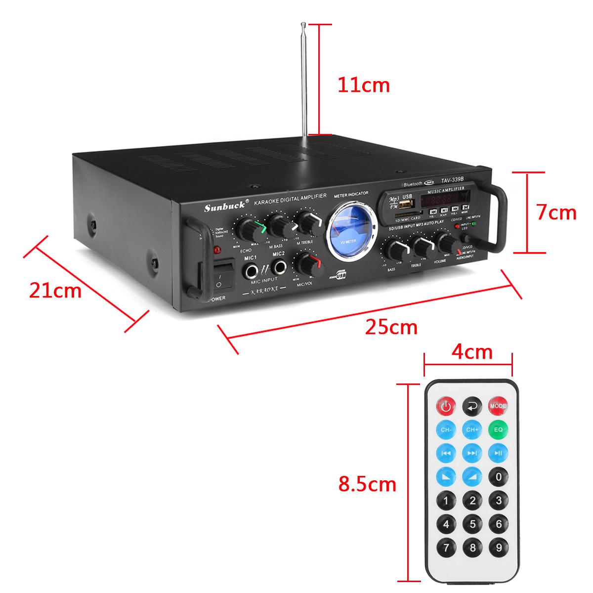 Bluetooth 600W Karaoke Power Stero Amplifier