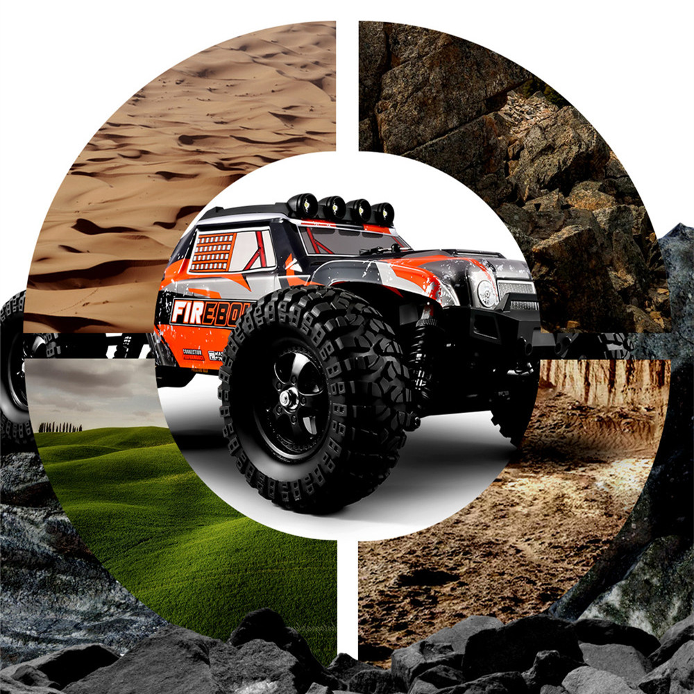HBX 901A RTR 1/12 2.4G 4WD 45km/h Brushless RC Cars Fast Off-Road LED Light Truck Models Toys