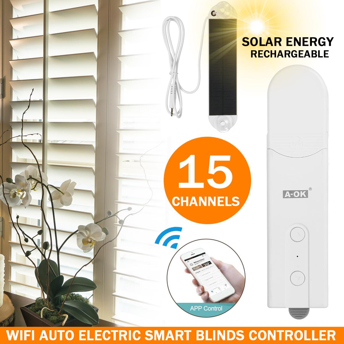 Motorized Shade Chain Roller Blind Smart Window Automatic Remote APP Control (AU Plug) 1