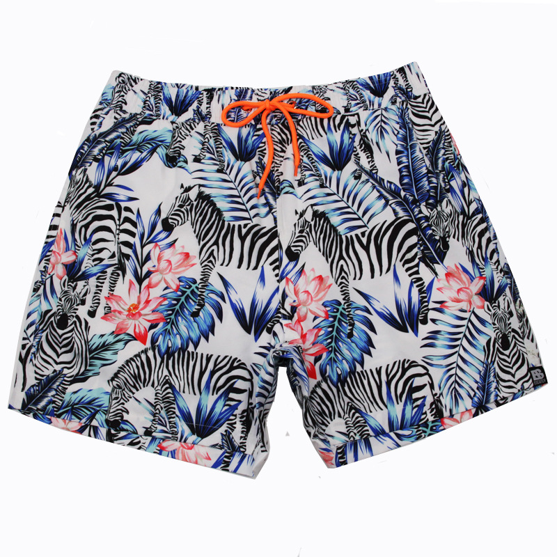 c6a7ac0771 men's casual quick-drying beach adjustment belt shorts men's beach ...