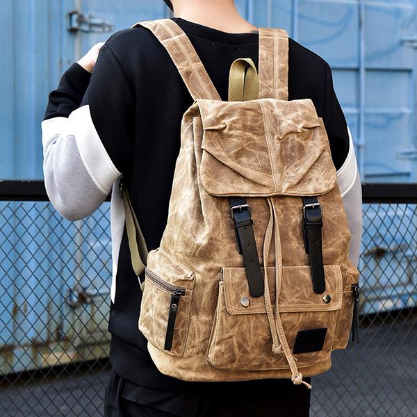 Vintage Canvas Casual Waterproof Outdoor Travel Backpack
