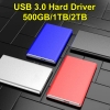 500G/1T/2T Portable External Hard Drive USB 3.0 HDD Storage Compatible Harddisk