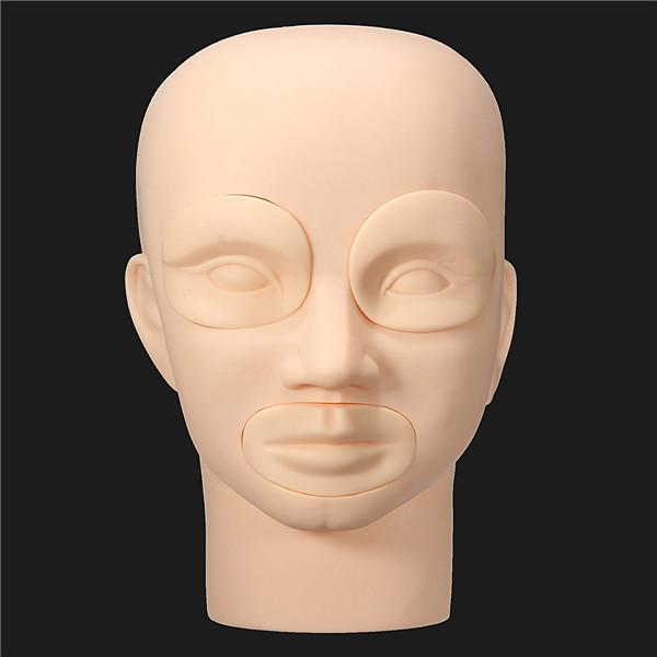 Съемная мягкая силиконовая модель головы практика макияж губ одевания обучение бровей татуировки