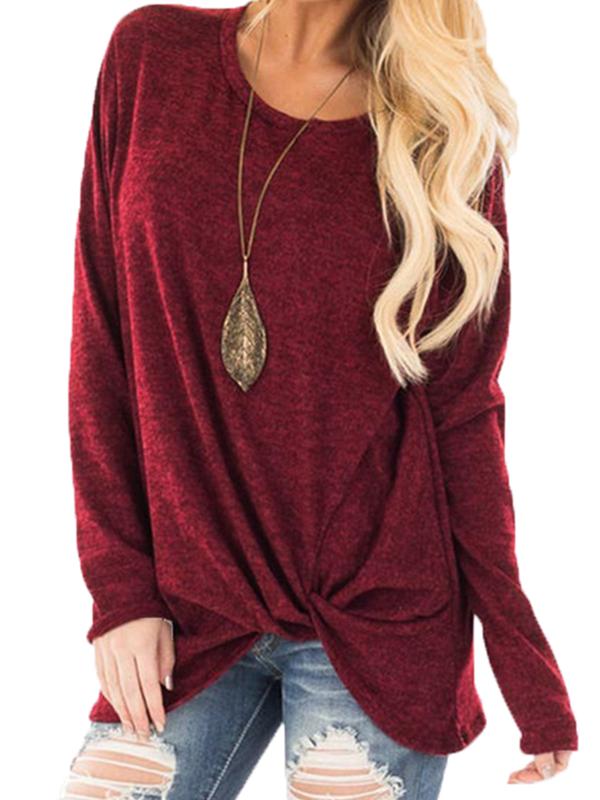 Женское Рубашка с длинным рукавом с асимметричной ручкой
