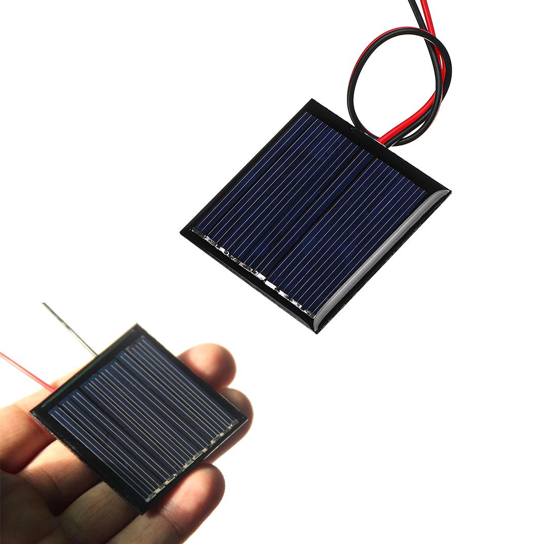 0.25W 5V 45*45mm Mini Polysilicon Solar Panel Epoxy board with Wire
