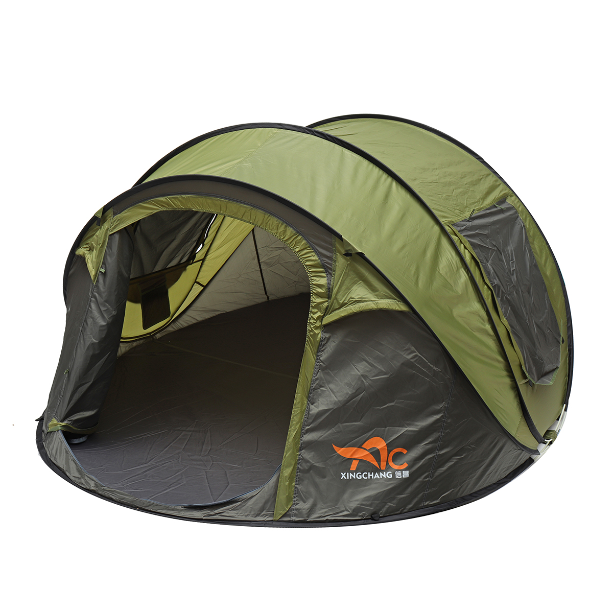 5-8 Person Automatic Camping Tent with Sunshade Canopy