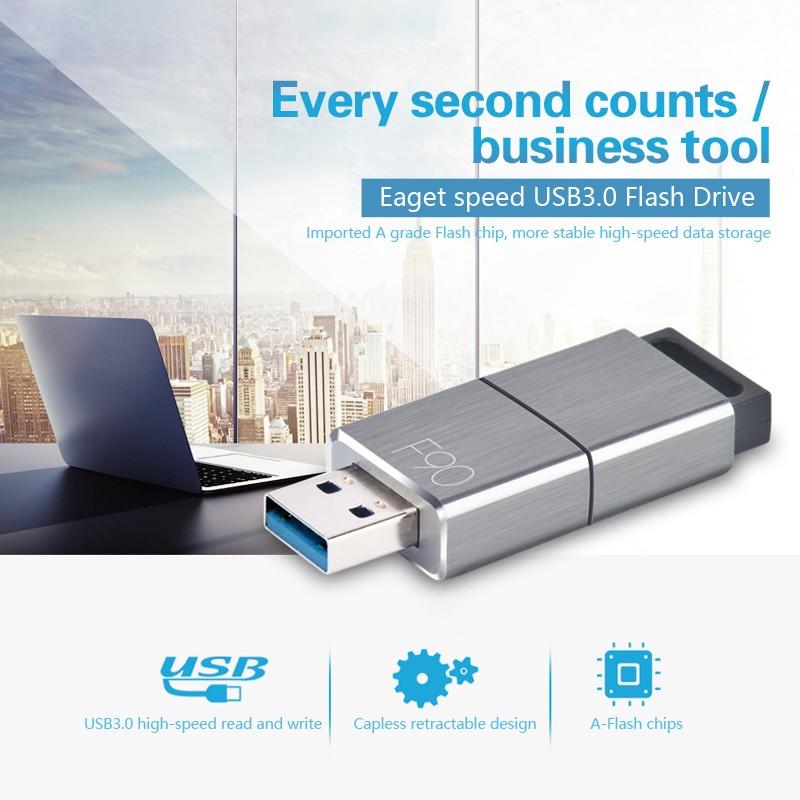 Eaget F90 USB 3 0 128GB Shockproof USB Flash Drive U Disk Pen Drive High  Speed 5Gbps