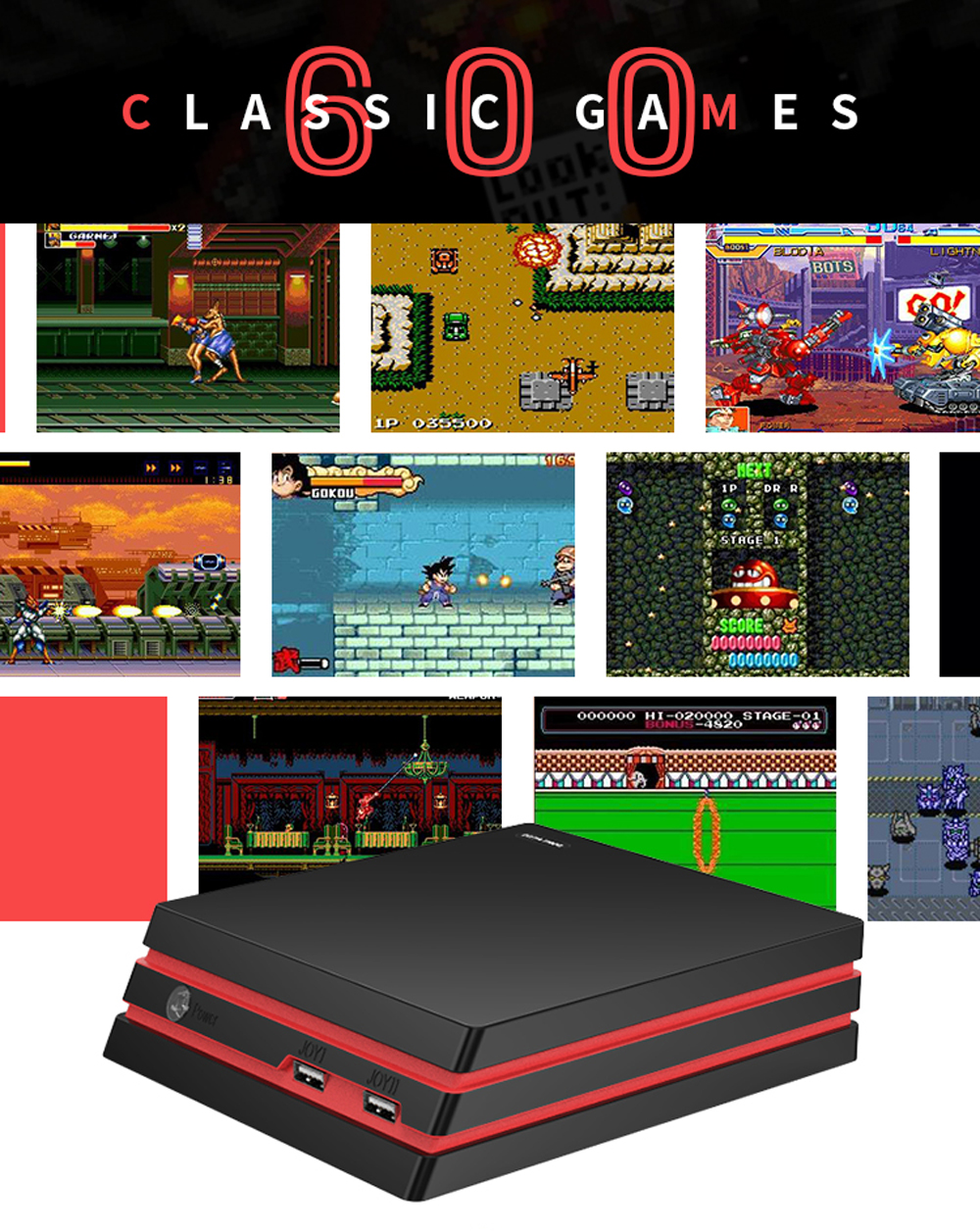 DATA FROG Y3 64 Bit 4K HDMI TV Output Built-in 600 Classic Games Retro Video Game Console