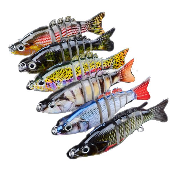 بروبيروس 6 قطع أقسام الصيد إغراء 10.3 سنتيمتر 20.7 جرام سويمبايت الصيد الطعم 6 #