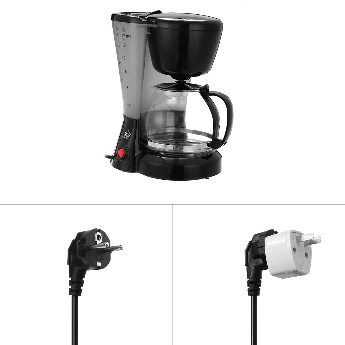 1.2L Electric Drip Coffee Tea Espresso Maker Automatic Filter Machine 10-12 Cups Coffee Machine 22