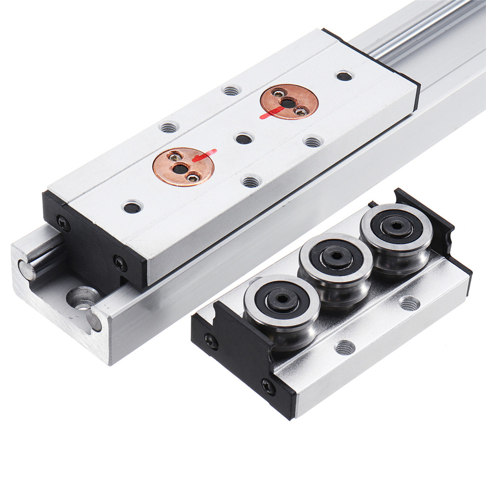 Machifit SGR20N-500L With SGB20N-3UU SGB20N-5UU Slide Block Built-in Dual Axis Roller Linear Guide