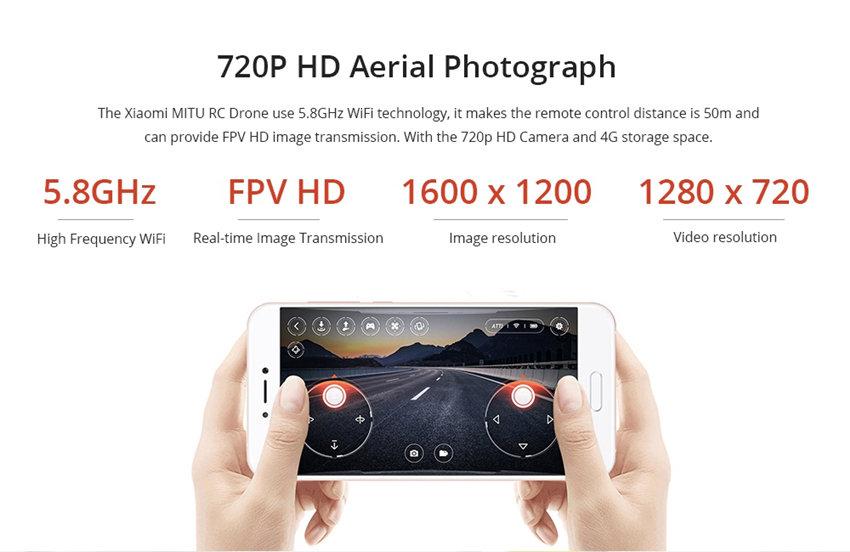 FIMI MiTu WiFi FPV With 720P HD Camera Multi-Machine Infrared Battle Mini RC Drone Quadcopter BNF (BNF) 2