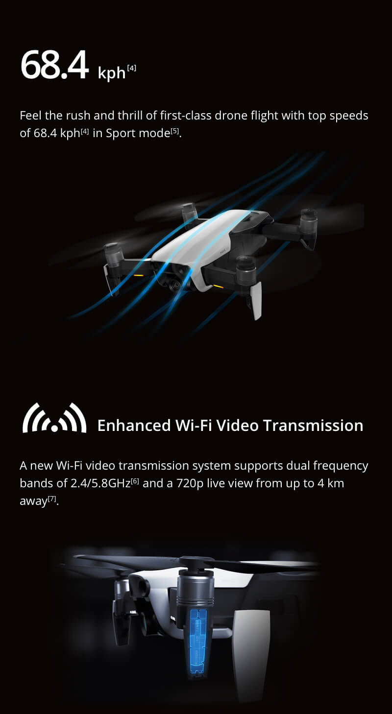 c234d6da92f dji mavic air 4km fpv w/ 3-axis gimbal 4k camera 32mp sphere ...