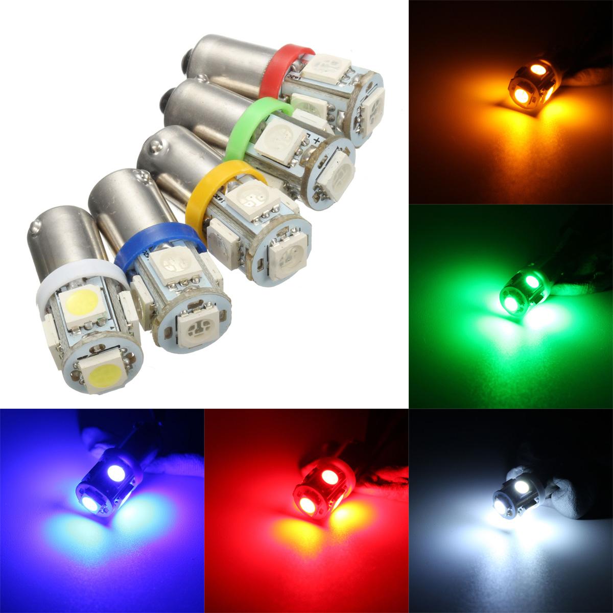 Индикатор лампочка лампа 5 цвет T10 автомобиль 12v 5 СМД LED BA9S T4W W5W