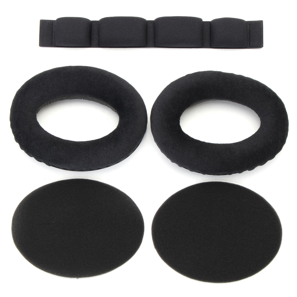 1 Pair Replacement Velour Ear Pad Headband for Headphone HD545 HD565 HD580 HD600 HD650
