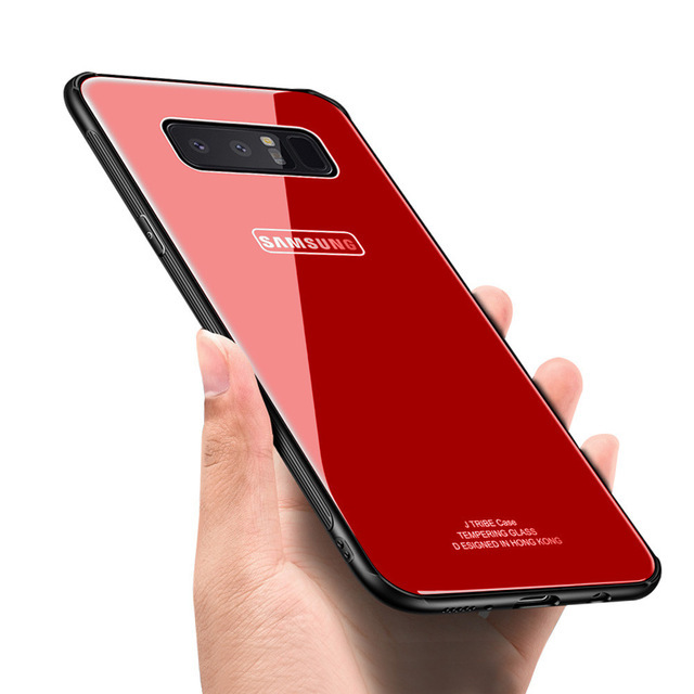 Bakeey™ Tempered Glass Mirror Back TPU Frame Protective Case for Samsung Galaxy Note 8/S8/S8Plus