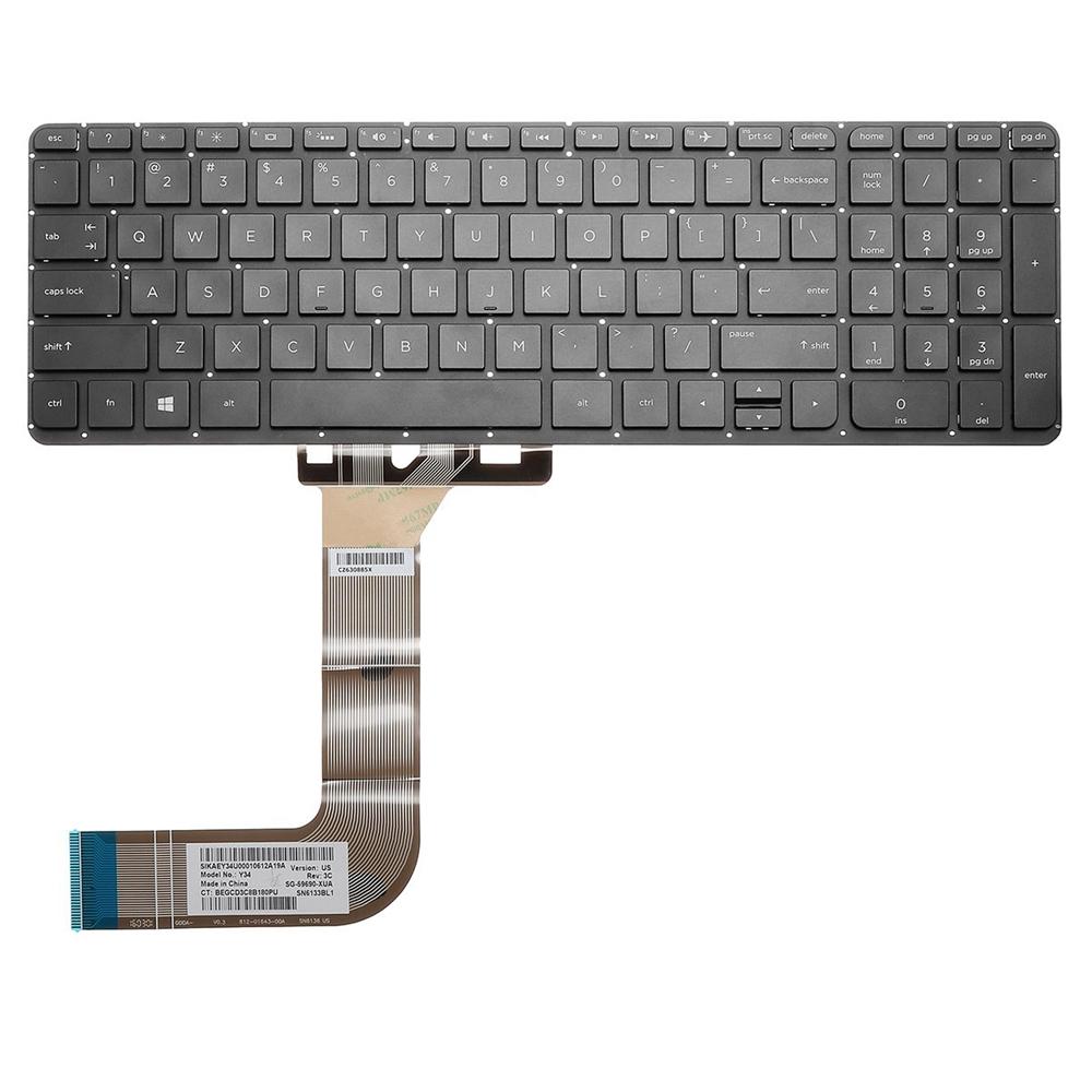 Ноутбук US Заменить Клавиатура Для HP Павильон Бит 15-p000 15-p008au 15-p030nr Использование ноутбуков