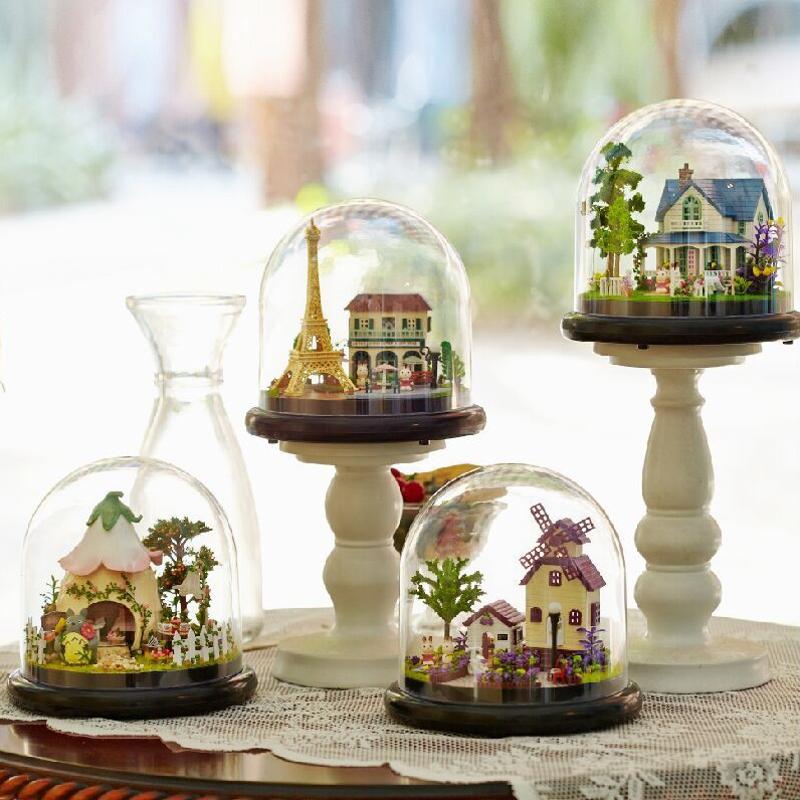 CuteRoom Travel Series DIY Puppenhaus Villa House Miniatur Mit LED Lichter Abdeckung Sammlung Geschenk Spielzeug