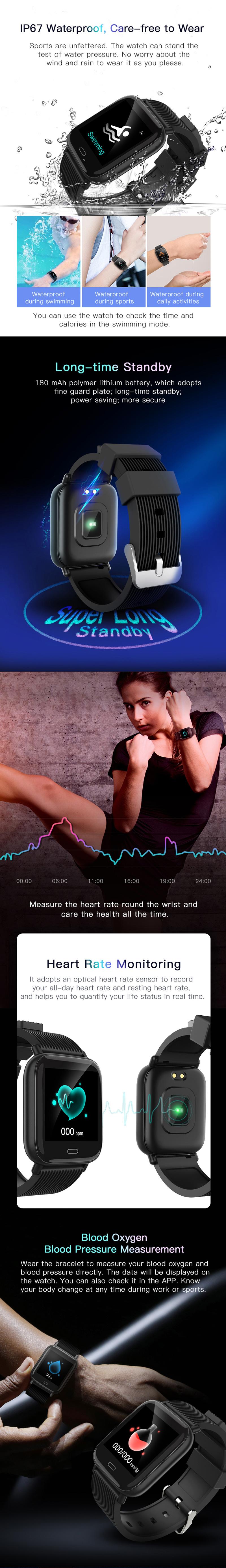 Bakeey G20 Dynamic UI Weather Target Setting HR Blood Pressure Oxygen Monitor bluetooth5.0 Smart Watch 18
