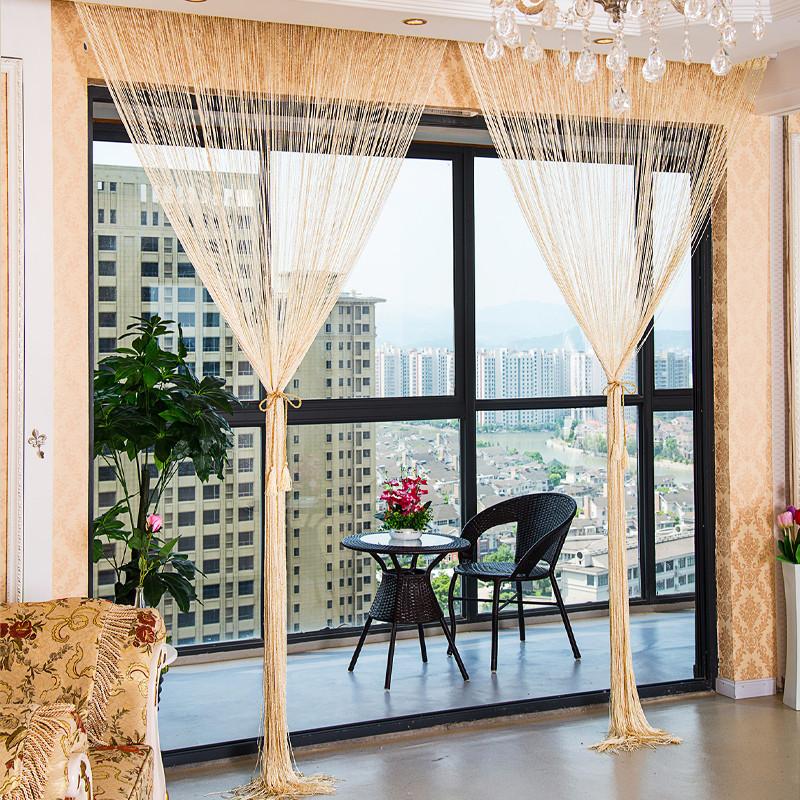 Strange 1 0X2 0M Glitter String Bead Door Curtain Panels Fly Screen Room Divider Voile Curtains Net Beutiful Home Inspiration Xortanetmahrainfo
