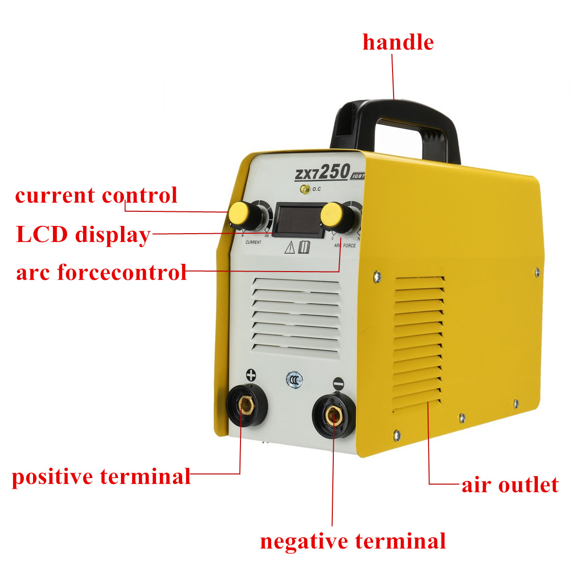 ZX7-250 220V ARC Force Electric Welding Machine MMA IGBT Inverter Kit