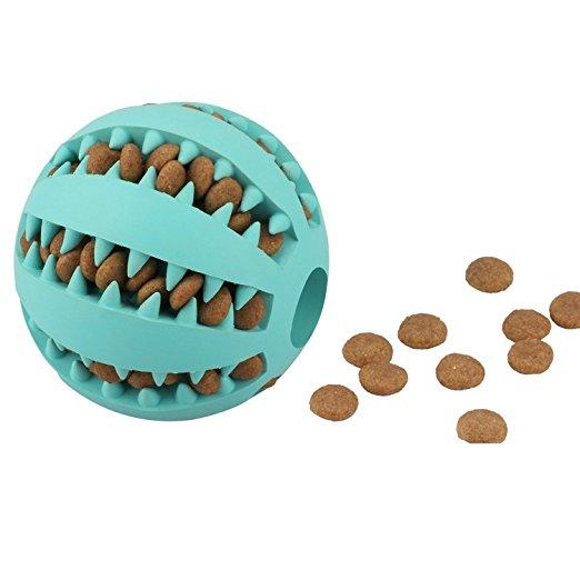 7CM Interactive IQ Treat Ball Rubber Собака Мячи для игрушек с устойчивой к укусу мягкой резине Собака Мячи