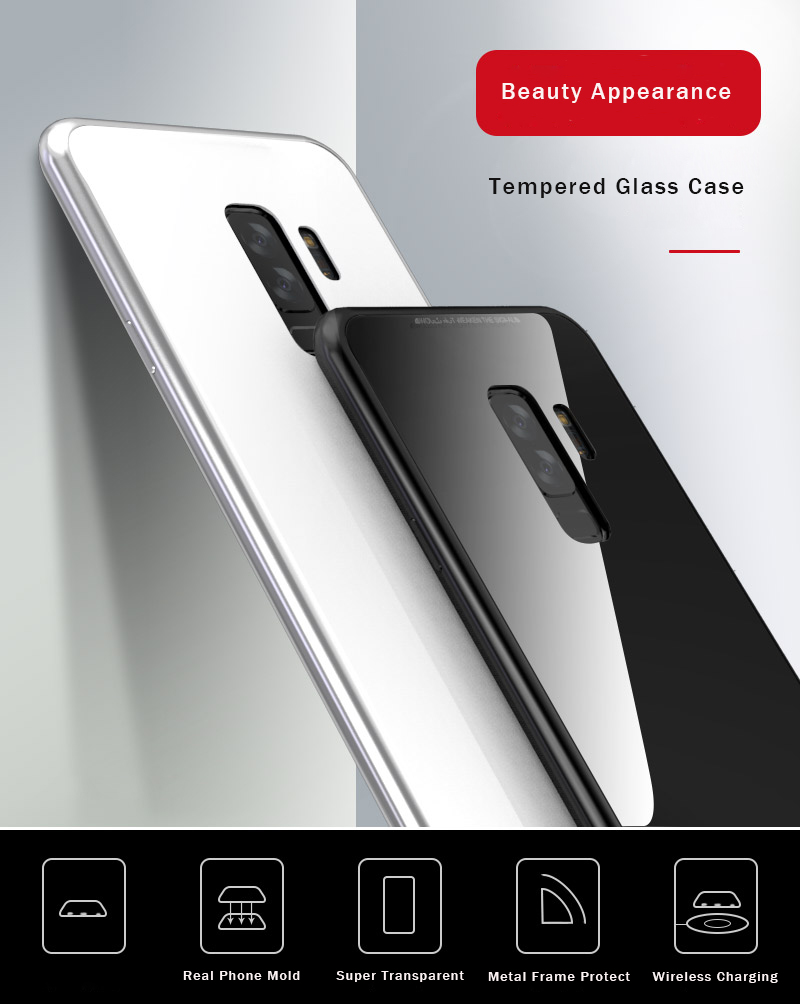 Bakeey Magnetic Adsorption Aluminum Tempered Glass Protective Case For  Samsung Galaxy A50 2019