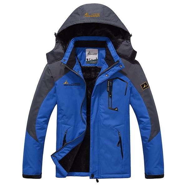 Толстая флис зима На открытом воздухе водоотталкивающая куртка