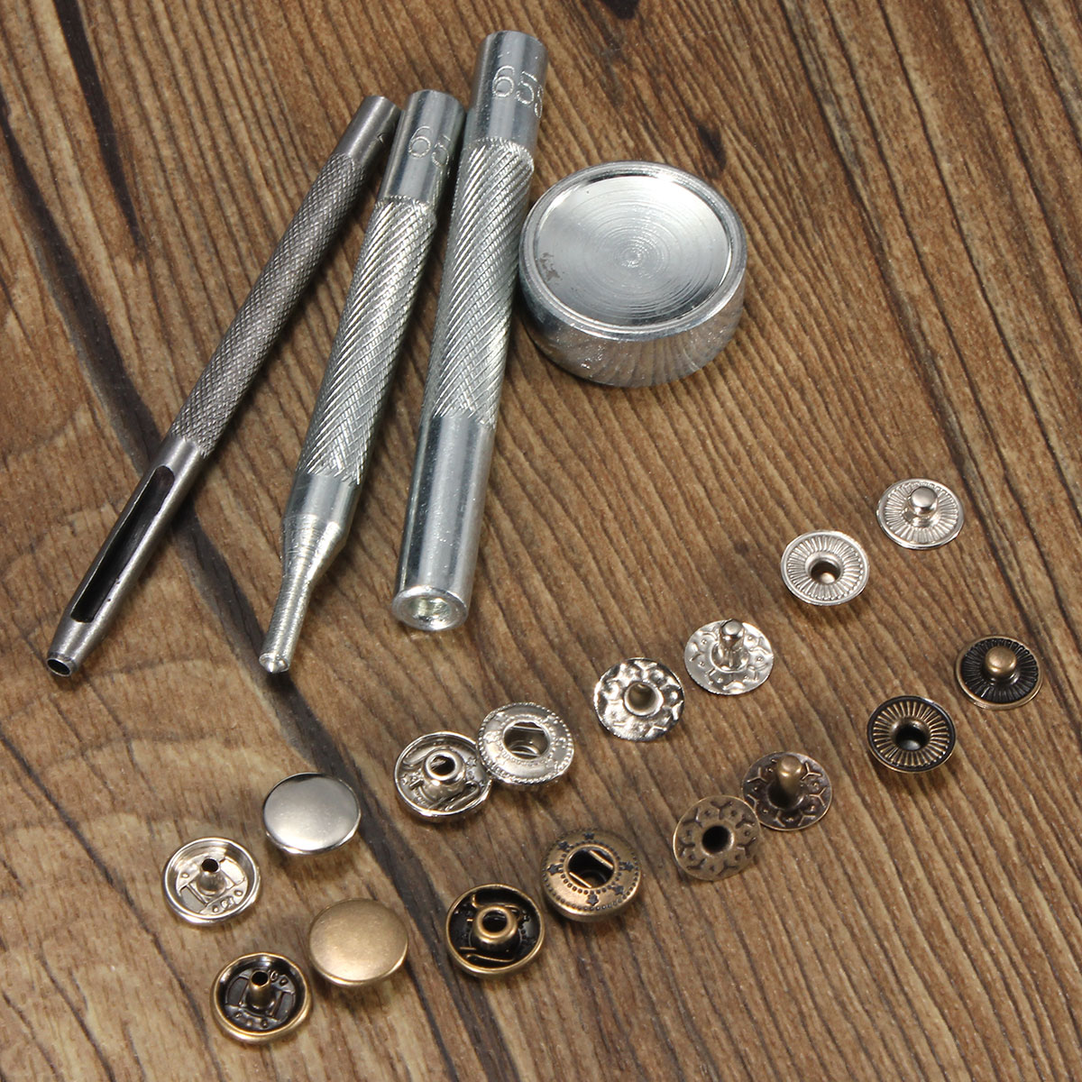10mm Press Stud Buttons Poppers Leather Craft with Fixi
