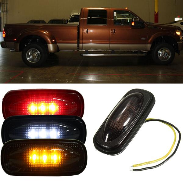 Для Ford F350 F450 LED крыло кровать боковых габаритных огней лампы дыма линзы